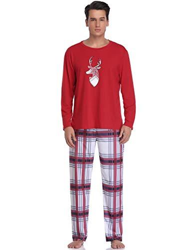 Abollria Pijamas Navidad para Familias Adultos Pijama Familiares Manga Larga Hombre Mujer Niños Niña,Suave Comodo...