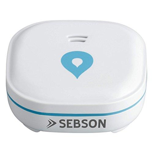 SEBSON Detector de Agua Mini GS153 batería de Larga duración de 10 años, Sensor de Agua para Cocina/baño, inundacion, Alarma de Agua 60x60x24,2mm