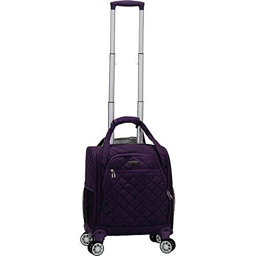 Rockland Melrose Spinner Wheel Underseater Carry-On Luggage, Purple