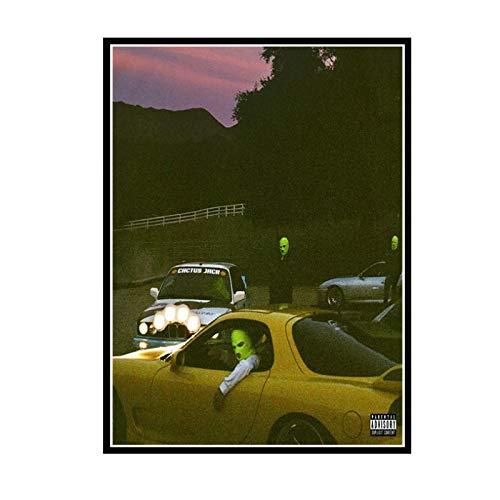 Wxueh Jackboys & Travis Scott Cover 2019 Rap Music Album Posters E Impresiones Pintura De Arte De Pared Para Decoración Del Hogar -50X70Cmx1Pcs-Sin Marco