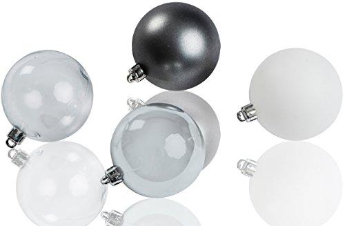 CHICCIE Lot de 20 Boules de Noël de 6 cm