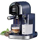 GXLO Máquina de café Espresso 3 en 1 Vaporizador de café expreso con Potente espumador de Leche Incorporado Latte y Capuchino de un Toque
