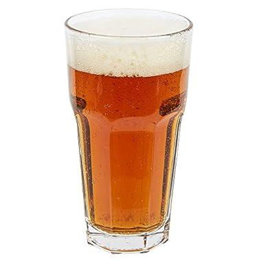 Libbey 15256 Gibraltar DuraTuff 16 oz Cooler Glass, SET OF 6 w/FDL Party Picks