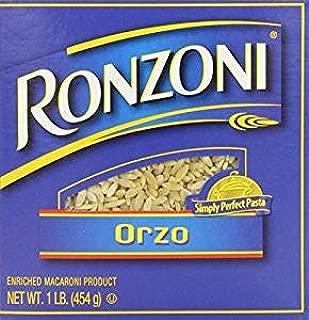 Ronzoni Orzo Enriched Macaroni Non GMO 16 Oz. Pack Of 3.