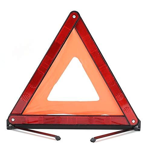 Señal de tráfico de advertencia - Triángulo de advertencia reflectante por kits de viaje Señal de advertencia reflectante de automóvil portátil Tablero de advertencia(JS00C)
