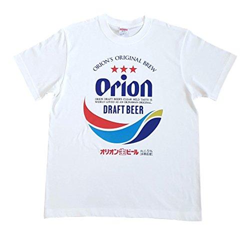 オリオンビール 綿100% 生地 Tシャツ 白 S~LL グッズ (L)