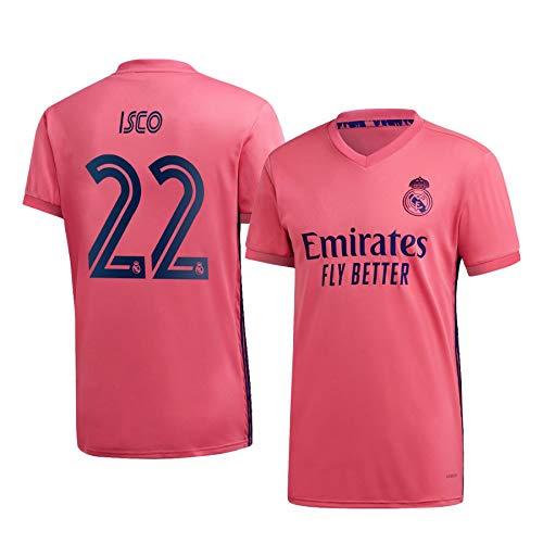 F-shop ISCO Real Madrid Pink,Maillot ISCO Trikot 2020/21 für Herren & Jungen(Pink,XXL)