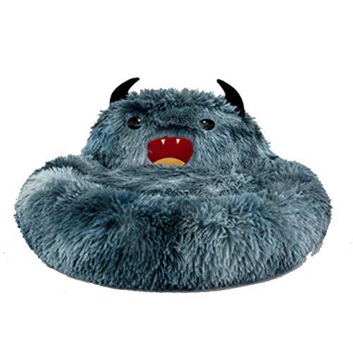 QCSTORE Pet Plush Little Monster Pad, Warm Pet Nest Plush Blanket Soft Washable Pet Bed