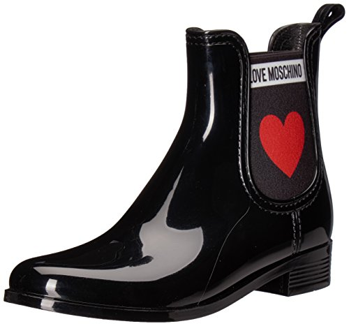 Love Moschino Damen SCA.Nod.Rainboot30 PVC Chelsea Boots, Schwarz (Nero 000), 36 EU