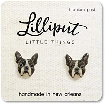 Boston Terrier Earrings, Dog Lover Gift, Dog Gift, Sister Gift