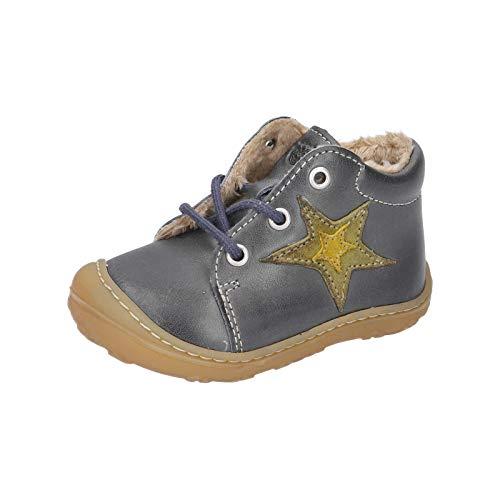 RICOSTA Unisex - Kinder Lauflern Schuhe ROMMI von Pepino, Weite: Mittel (WMS), Freizeit leger schnürschuh schnürstiefelchen,See,24 EU / 7 Child UK