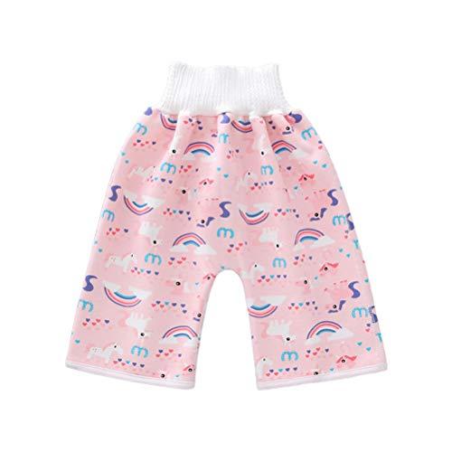 Baby Windel-Shorts, wasserdichte TUP Cartoons Shorts mit Gummiband, 100% Baumwolle, 360 Grad, auslaufsicher, saugfähig, waschbar, hohe Taille, weich, atmungsaktiv, wiederverwendbar(L)