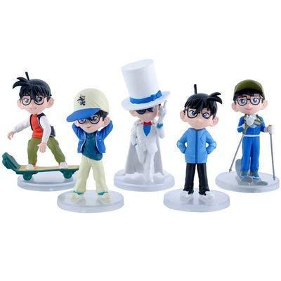 MIRECLE 5 Estilos de Dibujos Animados Detective Conan Juguete Modelo muñeca Adornos 13 cm
