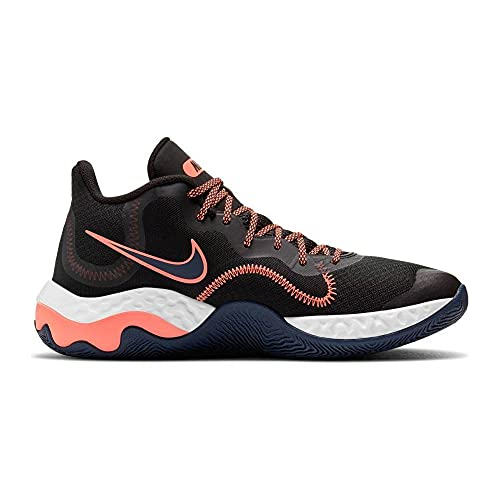 Nike Renew Elevate Basketball Shoe, Zapatillas de Baloncesto Unisex Adulto, Black Bright Mango Thunder Blue, 39 EU