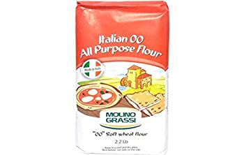 Molino Grassi Italian  00  All Purpose Soft Wheat Flour 2.2 lbs  Pack of 2