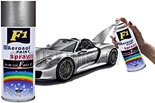 Sigma F1 Aerosol Spray Paint Silver Shinning For Multipurpose For Car,Bike,Cycle,450 Milliliters, (Silver)