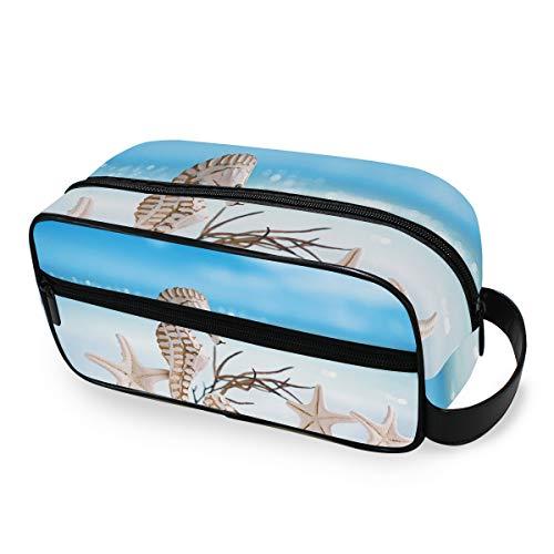 Trousse de toilette Trousse de maquillage Outils Cosmétique Train Case Sea Beach Seahorse Starfish Travel Ladies Portable Storage