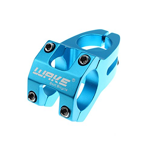 Wake Bike Stem 31.8 × 45mm Blue Mountain Bike Stem Short Handlebar Stem for Most Bicycle, Road Bike, MTB, BMX, Fixie Gear, Cycling