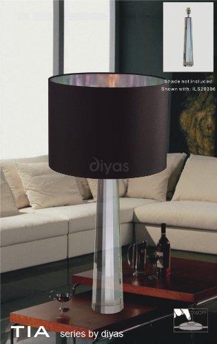 Diyas IL11031 Tia - Lámpara de mesa (1 unidad), color plateado