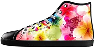 Daniel Turnai Fan Custom Women's Fashion DIY Image Colorful Art Flower Top Canvas Sneaker Shoes