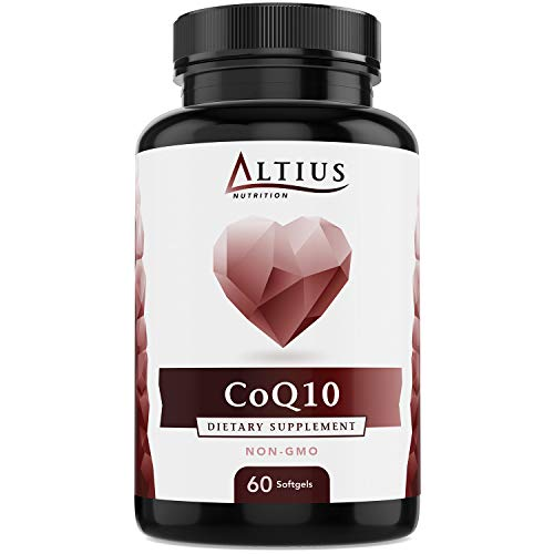 Best CoQ10 100mg Softgels (Coenzyme Q10) - Ubiquinone, Non-GMO, Ubiquinol - antioxidant Supplement Support for Heart Health, Blood Pressure, Increases Energy, Natural - 60 Softgels