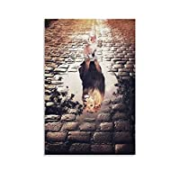 猫の反射ライオン キャンバスポスター寝室の装飾スポーツ風景オフィスルームの装飾ギフト,キャンバスポスター壁アートの装飾リビングルームの寝室の装飾のための絵画の印刷 12x18inch(30x45cm)