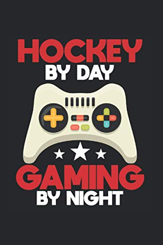 Gamer Hockey Video Game Ice Player Gaming Gift: Journal (6x9 inches) with 120 pages