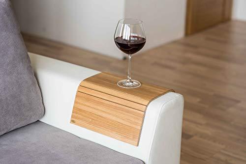 Bandeja de brazo de madera para sofá o sofá, con protectores de reposabrazos col3.