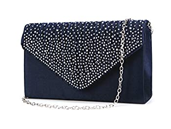 blue elegance rhinestone handbags