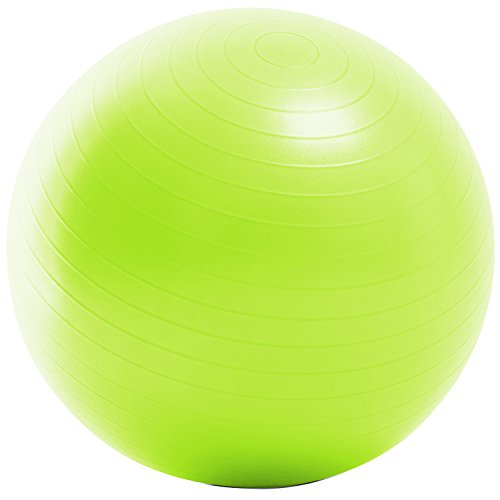 La-VIE(ラヴィ) バランスボール ノンバーストジムボール65cm ライム フットポンプ 紙メジャー付き 3B-3131