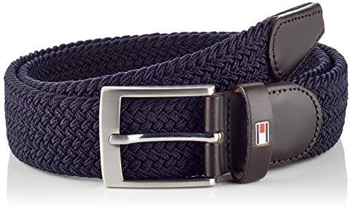 Tommy Hilfiger New Adan Belt 3.5cm Cintura, Blu (Sky Captain 422), 10 (Taglia Produttore: 110) Uomo