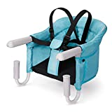VEEYOO Hook On High Chair - Compact Fold Clip On High Chair for Baby Toddler, Machine Washable Portable High Chair for Travel or Restaurants (Turquoise)