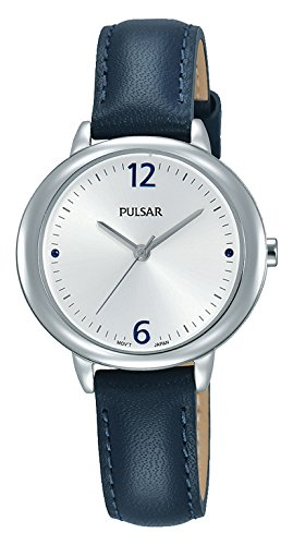 Pulsar Damen Analog Quarz Uhr mit Leder Armband PH8357X1
