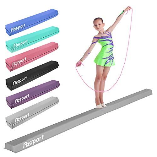 FBSPORT Faltender Schwebebalken, 270cm Gymnastik Balance-Balken, Gymnastikboden-Balken Balance-Balken-Leder-Balance-Fitness-Übungs-Ausrüstung für Kinder