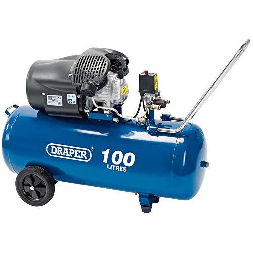 Draper 65396 100L 230V 3.0HP (2.2KW) V-Twin Air Compressor