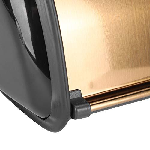 Jopwkuin Cubo de Pan, Caja de Pan a Prueba de Polvo de Acero Inoxidable de Gran Capacidad con Base de plástico Antideslizante para Cocina casera para Pasteles de Pan