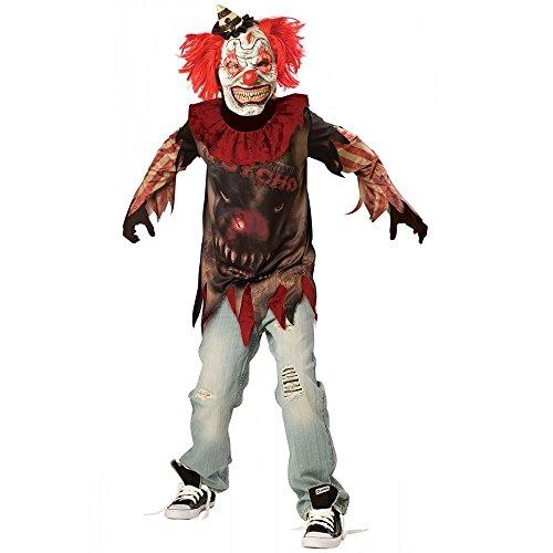 Sideshow Killer Clown Kostüm Kinder 10-12 Jahre Gr. 146