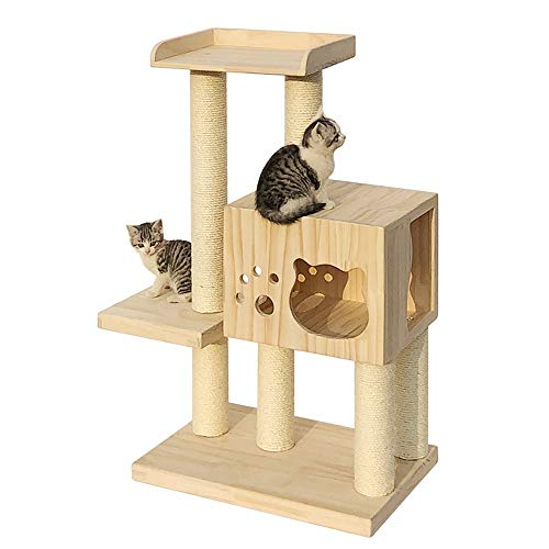 Cat Activity Trees Cat Play Tower Medium-Sized Cat Climbing Frame Cat Jumping Platform Cat Litter Four Seasons Universal Cat Tree Solid Wood Sisal Cat Tree Cat Cave Cat House