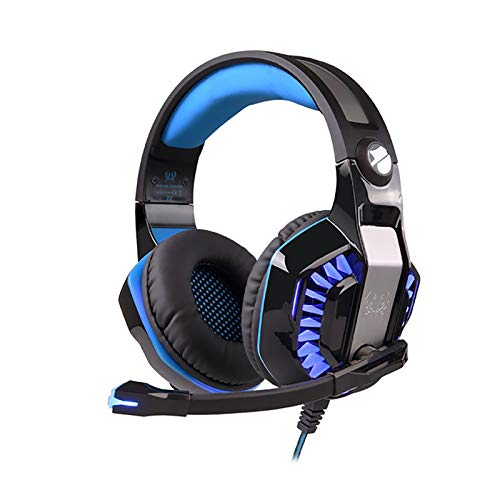 ERMIC Gaming Headsets, Professional Gaming Headsets, Excellent Comfort, Noise Reduction, with Microphone, 3D Game Sound Effects, Suitable for Pc Laptops, Tablets, Mac Smart Phones