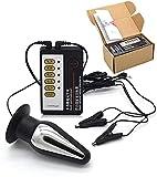 BLH-JMS Electro Sex, Electro Anal Plug/Electro Sex Butt Plug Set, Stima del Sesso per Dispositivi di Corrente di Stimolazione, Pinze per Capezzoli Electro Shock, Elettrostimolazione