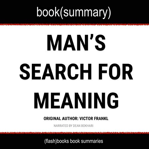 Man's Search for Meaning by Viktor Frankl - Book Summary audiobook cover art