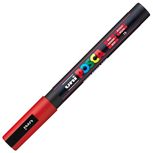 Uniball 156737000, Marcatore, colore Rosso, 1 pezzo