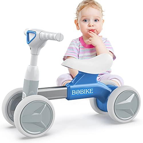 Bicicletta Senza Pedali per Bambini Bici Equilibrio per Bambini Triciclo Bambini 1-2 anni Tricicli Neonati Corridori Giocattoli Regali per Bambini, Blu