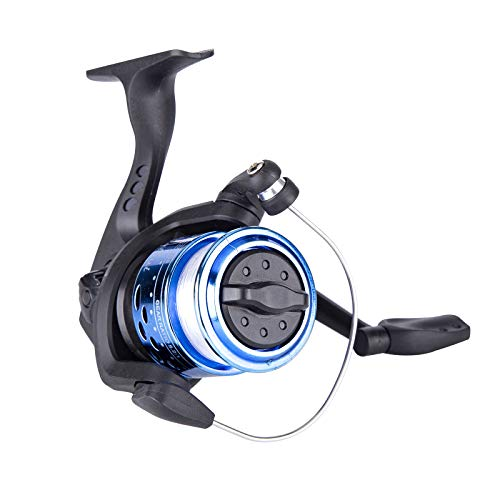 BLKTHUN – Mini Carretes de Pesca, Carretes de lanzado, Carrete Giratorio Portátiles Adecuados para La Pesca al Aire Libre