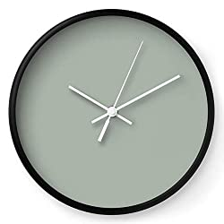 Society6 Sage by Color Study on Wall Clock - Black - White