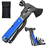 Multitool Camping Hammer Axe Hiking Emergency Survival Multitool 16 in 1 with Folding Mini...