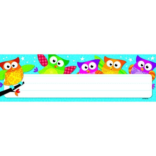 Owl-Stars! Desk Toppers Name Plates by Trend Enterprises Inc