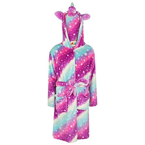A2Z 4 Kids® Kids Meisjes Eenhoorn Hooded Badjas Extra Zachte Fluffy 3D Galaxy Print Xmas Cosplay Kostuum Loungewear Nachtkleding Jurk Pak Nieuwe Leeftijd 2 3 4 5 6 7 8 9 10 11 12 13 Jaar