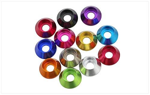 CROSYO 10 unids M2M2.5M3M4 Cabeza cilíndrica de aleación de Aluminio de Color, Cabeza de Taza, Tornillo de zócalo Hexagonal, Junta, lavaplotas, (Color : Rosado, tamaño : M2.5)