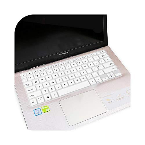 Funda protectora de silicona para teclado Asus Vivobook S14 S430Fa S430 S430Un S430Fn S430F S430U 14'' color blanco